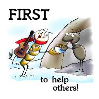 First to Help Others!
